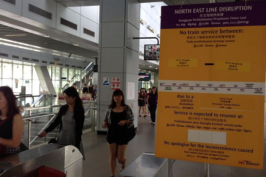 Train service resumed between Punggol and Sengkang stations on the North-East Line at 3pm on Aug 21. -- ST PHOTO: JOYCE FANG