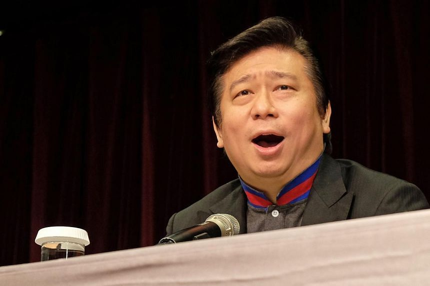 Mr Chang Hsien-yao, former deputy minister of Taiwan's Mainland Affairs Council (MAC), speaking during a press conference in Taipei on August 21, 2014. One of Taiwan's top negotiators on China policy is being investigated on suspicion of leaking secr