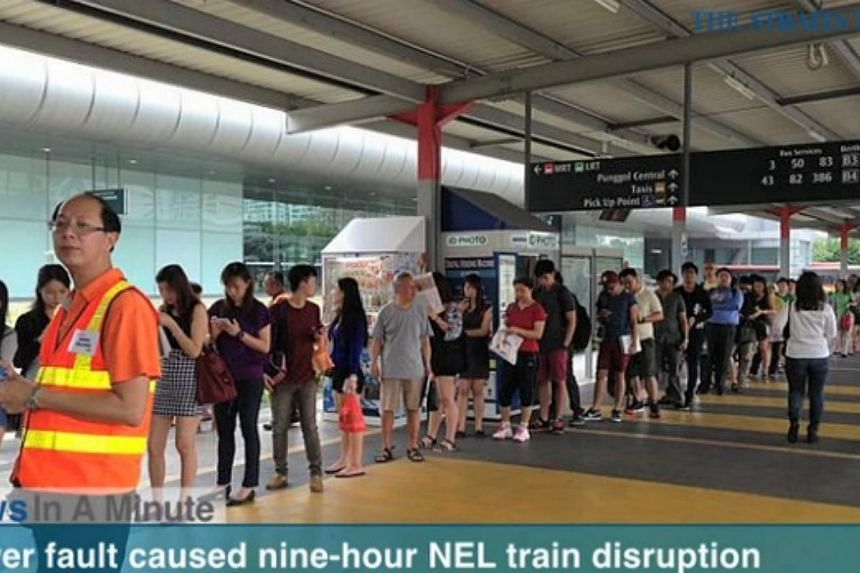 In today's News In A Minute, we look at a power fault that caused a nine-hour train service disruption on the North-East Line.-- SCREENGRAB FROM RAZORTV VIDEO