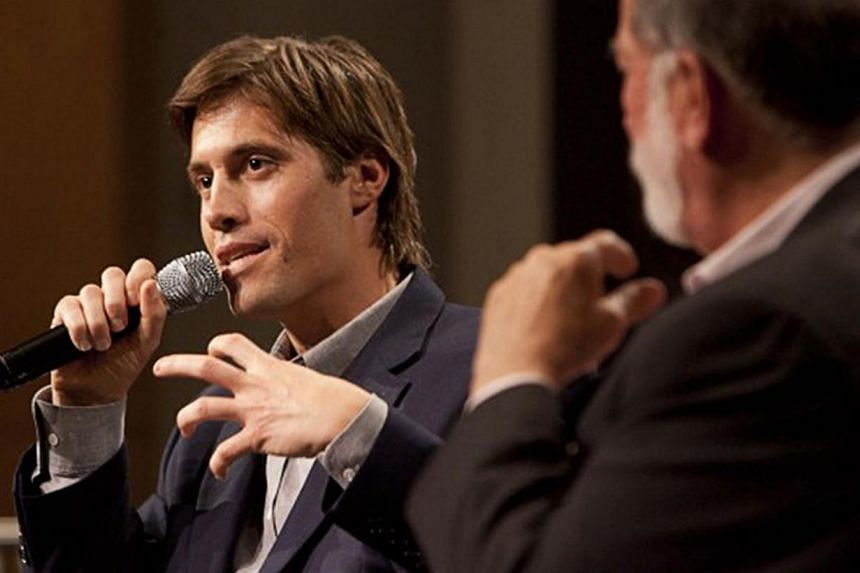 US journalist James Foley speaks at Northwestern University's Medill School of Journalism, Media, Integrated Marketing Communications in Evanston, Illinois, after being released from imprisonment in Libya, in this 2011 handout photo provided by North