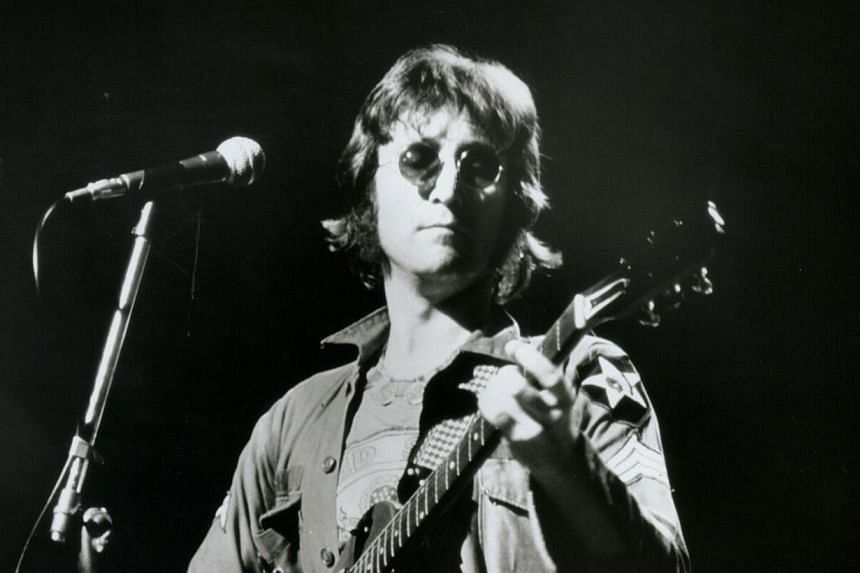 The late John Lennon, from the Beatles. -- PHOTO: STAR FILE PHOTO AGENCY