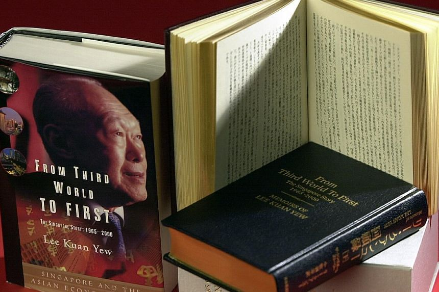 Book cover: From Third World To First byLee Kuan Yew. -- PHOTO: ST FILE