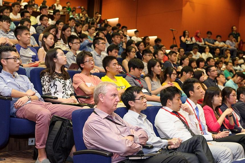 The Straits Times Young and Savvy talk on personal finance and investing at the Shaw Foundation Alumni House auditorium of the National University of Singapore (NUS) was the first in a series of five that will be held over the next few months.