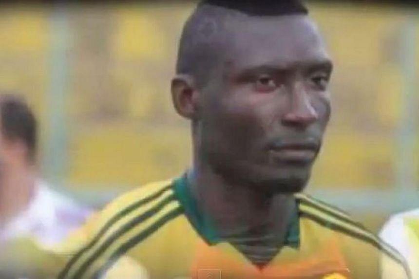 Cameroon striker Albert Ebosse. -- PHOTO: SCREENGRAB FROM YOUTUBE
