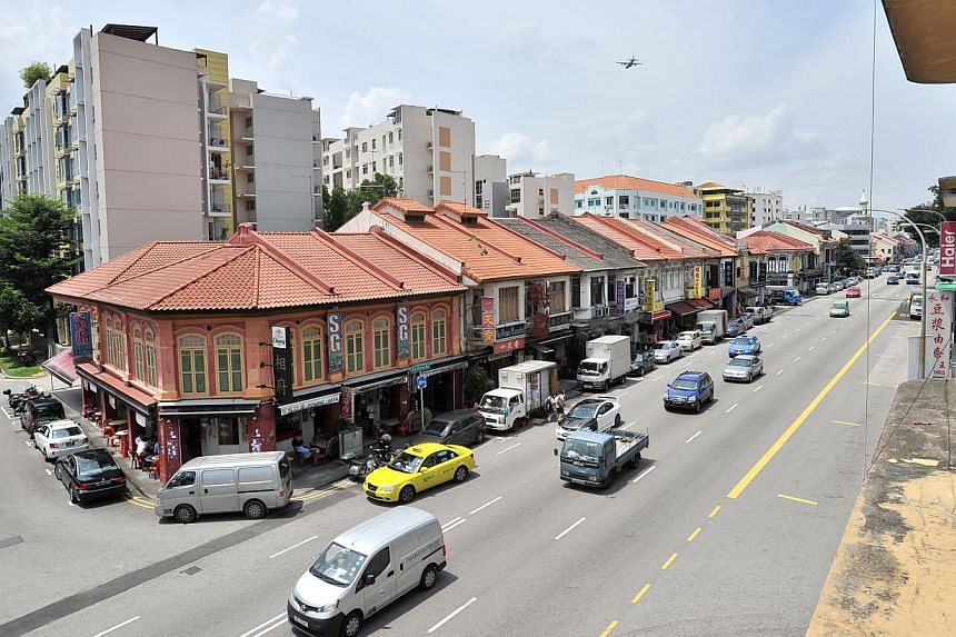 The Maple and Market cake shop located in Cassia Crescent, on the fringes of Geylang. The affordable rents, access to MRT stations and grungy character of the neighbourhood have made the area a draw. The view from the office of BeMyGuest, a tours and