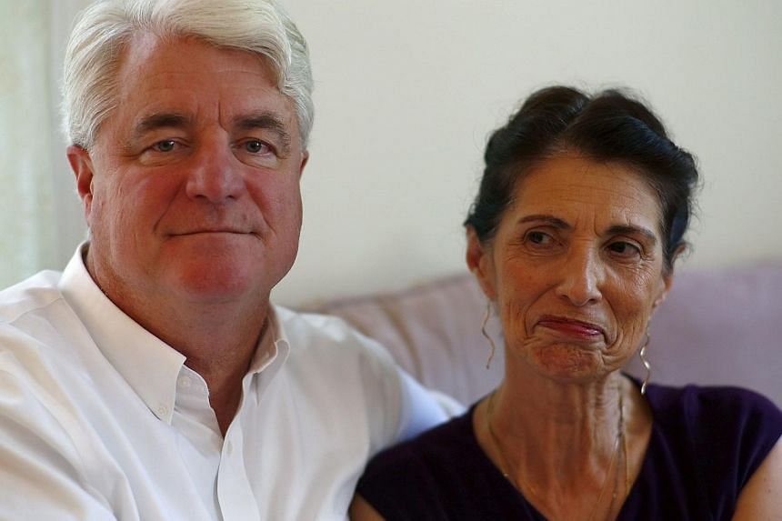 Diane and John Foley, parents of journalilst James Foley, sit for a portrait at their home during an interview on Aug 24, 2014, in Rochester, New Hampshire. -- PHOTO: AFP