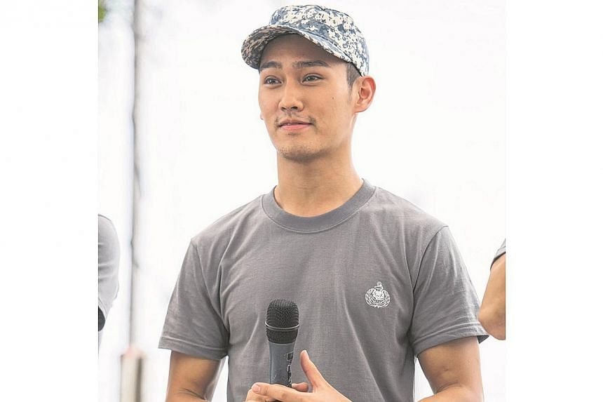 Wesley Wong, the son of famous Hong Kong acting couple Melvin Wong and Angie Chiu. is part of the cast for the third instalment of the popular national service movie series by Jack Neo, Ah Boys To Men. -- PHOTO:GOLDEN VILLAGE PICTURES