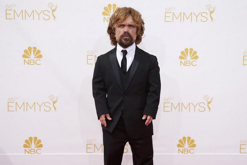 Actor Peter Dinklage, from the HBO series Game Of Thrones, on the red carpet at the 66th Primetime Emmy Awards in Los Angeles, California August 25, 2014. -- PHOTO: REUTERS