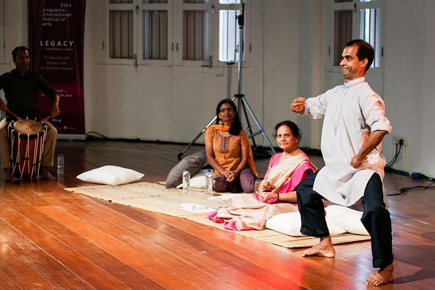 Bhaskar Arts Academy will revisit the past in Memory Routes, a revival of an epic work of kathakali dance theatre first shown in Singapore in 1954 at the then newly revamped Victoria Theatre. -- PHOTO: KEVIN LEE, SINGAPORE INTERNATIONAL FESTIVAL OF A