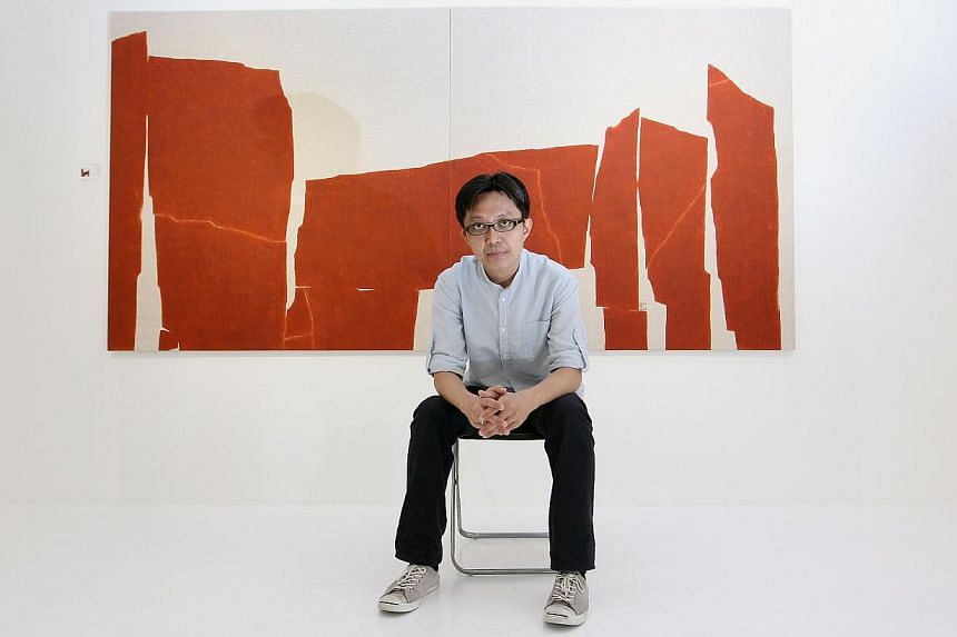 Artist Tay Bak Chiang (above) is one of the artists commissioned by Chan Hampe Galleries for its fifth anniversary. -- PHOTO: ST FILE
