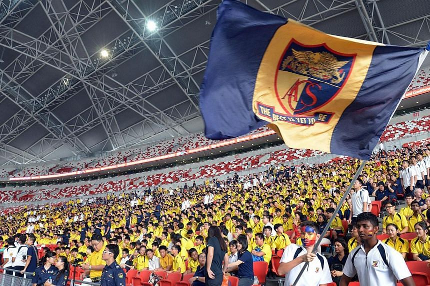ACS supporters at the match. -- ST PHOTO: LIM SIN THAI