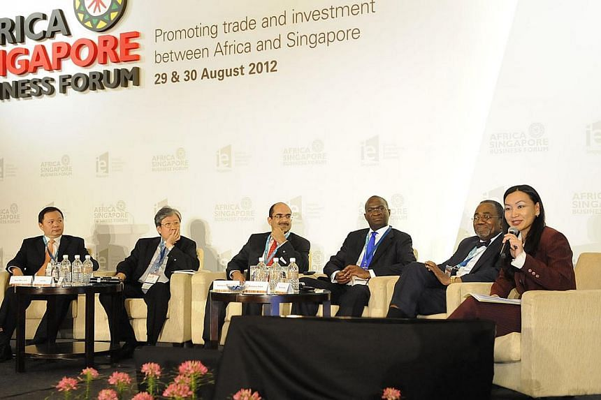 A panel discussion at the Africa Singapore Business Forum in 2012. On top of discussing investment opportunities, the forum could serve a more strategic purpose by encouraging a broader evaluation of Singapore's relationship with the continent.