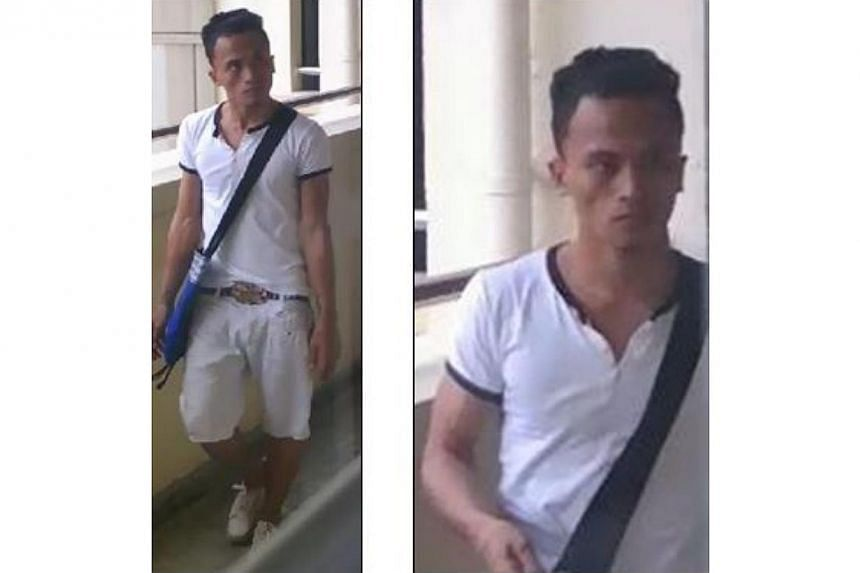Police are looking for a man suspected of being involved in a case of loanshark harassment near Yishun Street 71 last Wednesday. -- PHOTO: SPF