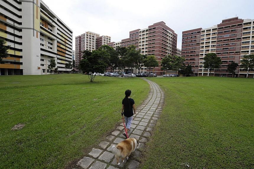 """Animal lovers have criticised a Housing Board notice that asked some dog owners in Ang Mo Kio to consider """"debarking your dog through surgery"""", or to soften noisy dogs by cutting their vocal chords. -- PHOTO: ST FILE"""