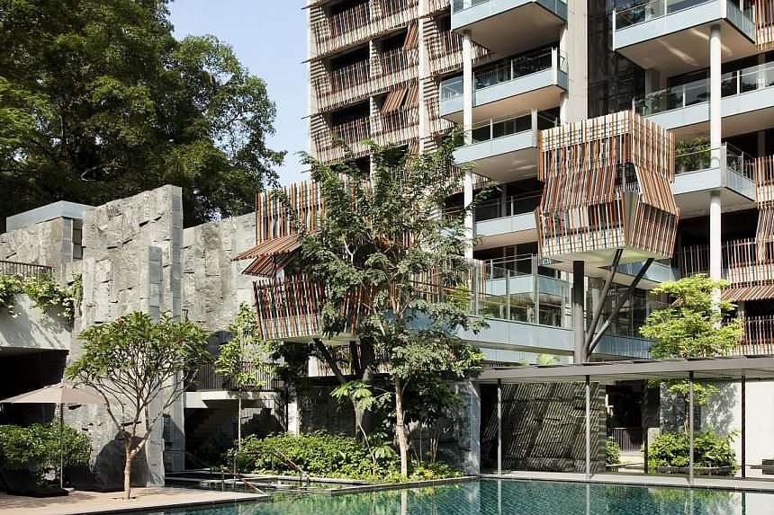 Goodwood Residence apartments, located along Bukit Timah Road and next to Goodwood Hill. Property group GuocoLand has posted a full year net profit of $304.2 million, up from $40.5 million last year. -- PHOTO: PATRICK BINGHAM HALL