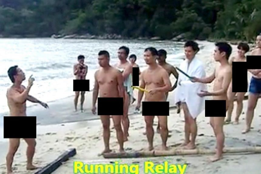 A Malaysian court sent six men to jail for a month on Thursday, Aug 28, 2014, and will try four other people over a nudist gathering that triggered outrage in the Muslim-majority country, a defence lawyer said. -- PHOTO: THE STAR/ASIA NEWS NETWORK