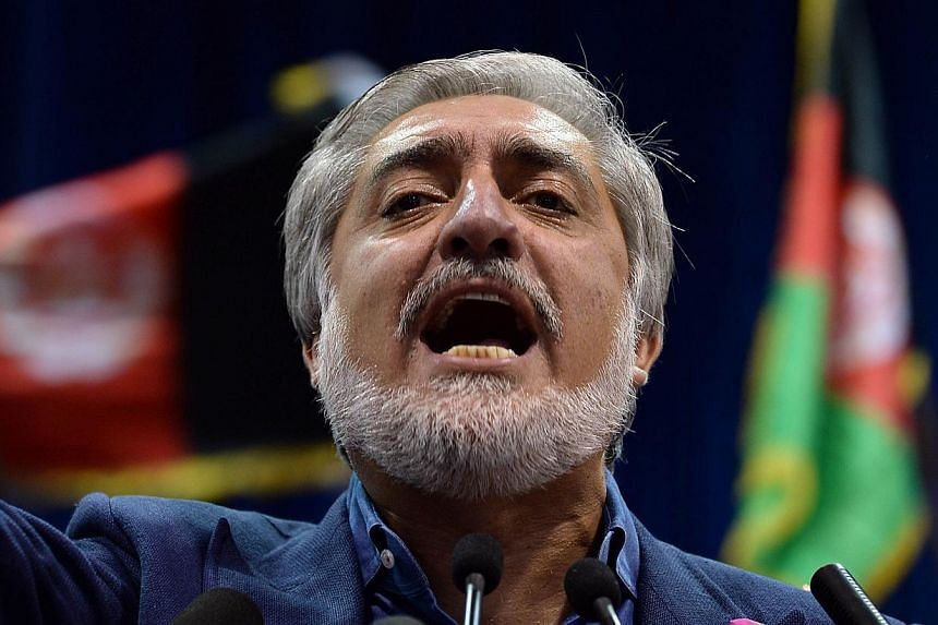 Afghan presidential candidate Abdullah Abdullah will reject the results of a UN-supervised audit of the election, his spokesman said on Wednesday, tipping the country deeper into crisis just a week before the scheduled inauguration. -- PHOTO: AFP&nbs