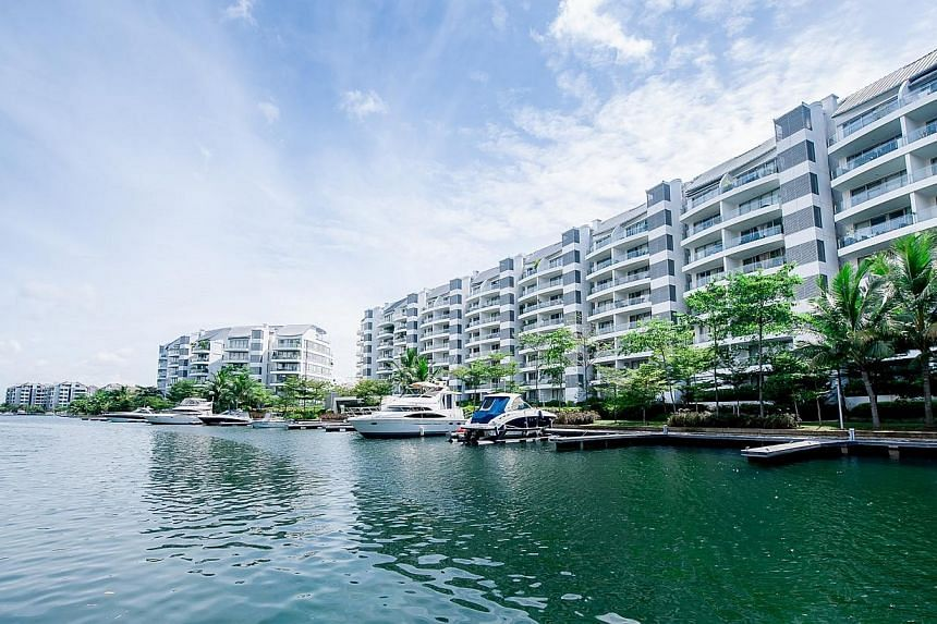 The Sentosa Cove, an upscale waterfront housing district.There's an eerie silence at night in Sentosa Cove, the man-made island resort billed as Singapore's answer to Monte Carlo and the only place in the country where foreigners can buy landed