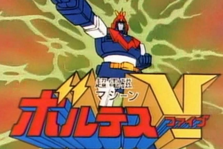 """Voltes V is a hugely popularJapaneseanimetelevision series that featuresfive flying vehicles that """"volt in"""" to form a 60m tall super robot that fight beast fighters. -- PHOTO:TOEI COMPANY."""