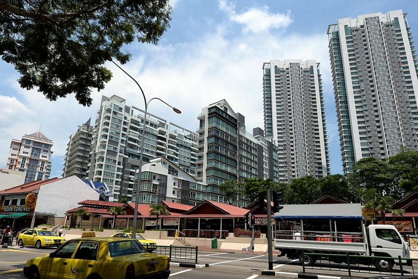Development charges, which are the rates that developers pay to enhance the use of land, have fallen for the first time in almost 18 months for residential non-landed sites. -- PHOTO: ST FILE