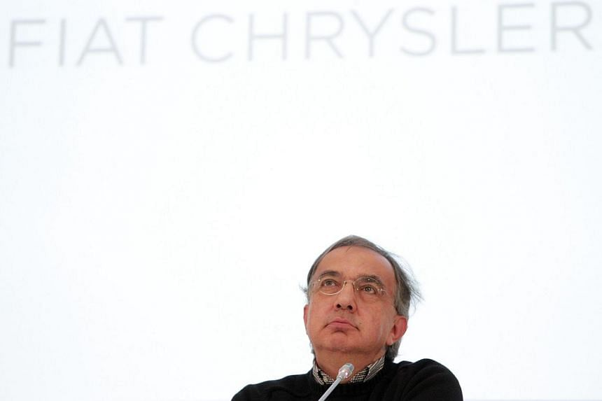 Fiat Chrysler Automobiles (FCA) Group chief executive officer Sergio Marchionne attends a press conference at the end of Fiat's last shareholders general assembly at Lingotto in Turin, on Aug 1, 2014. -- PHOTO: AFP