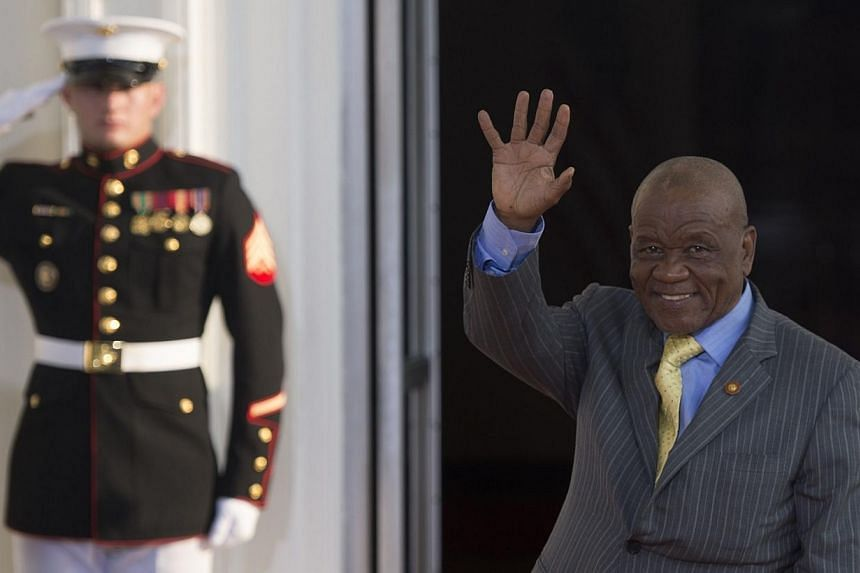 Lesotho Prime Minister Tom Thabane arrives at the White House for a group dinner during the US Africa Leaders Summit on Aug 5, 2014 in Washington, DC. Mr Thabane confirmed on Saturday that the military had seized power in a coup and that he had fled