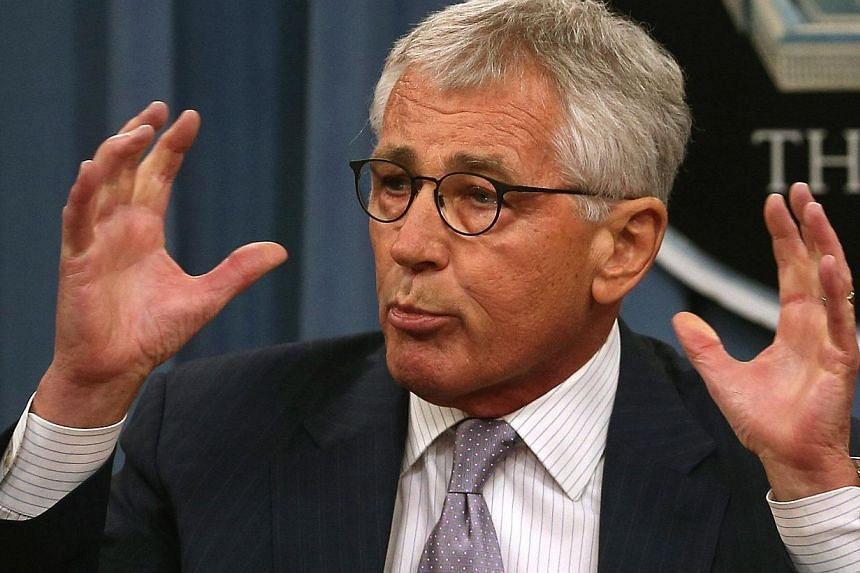 US Secretary of Defence Chuck Hagel speaks to the media during a press briefing at the Pentagon on August 21, 2014 in Arlington, Virginia. It has been announced that he will travel to Georgia and Turkey after attending a Nato summit in Cardiff n
