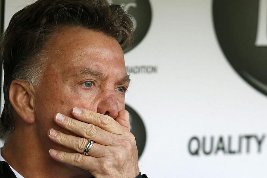 Manchester United manager Louis Van Gaal reacts during their English Premier League football match against Burnley at Turf Moor in Burnley. -- PHOTO: REUTERS