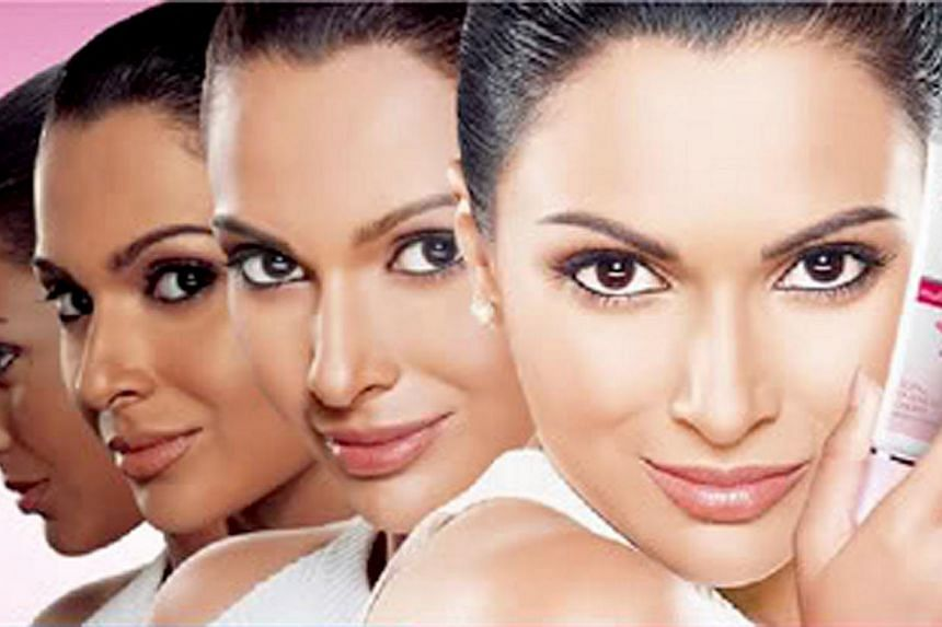 An ad for the Fair & Lovely cream. The perception in India that people with fair skin are more successful in love and career has spawned an industry in fairness products that generates more than S$500 million in revenue a year. -- PHOTO: FAIR &am