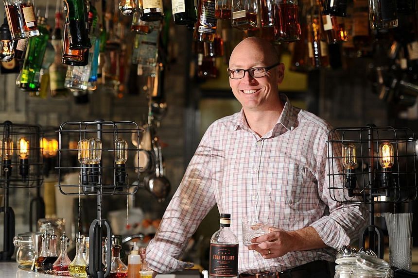 Master distiller Cameron Mackenzie tested 80 botanicals in different concentrations and temperatures before arriving at the 10 botanicals used in the gin. -- PHOTO: LIM YAOHUI FOR THE STRAITS TIMES