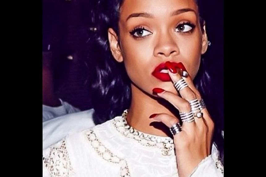 Celebrities wearing Lynn Ban's jewellery include singers Rihanna (above), Ellie Goulding and Beyonce, and model Cara Delevingne. -- PHOTO: INSTAGRAM