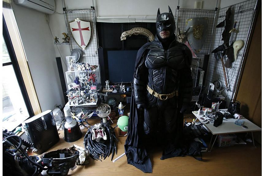 The hideout (more commonly known as bedroom) of Chibatman. -- PHOTO: REUTERS