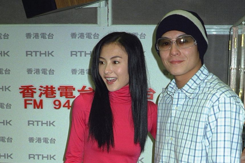 Hong Kong actor-singer Edison Chen with actress Cecilia Cheung. -- PHOTO: APPLE DAILY