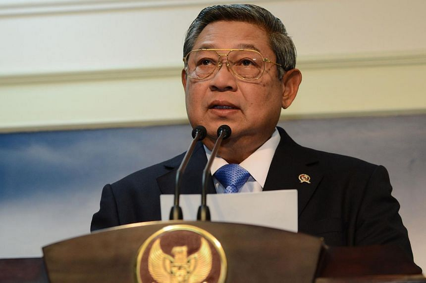 Indonesian President Susilo Bambang Yudhoyono, whose term in office is due to end next month, has been offered a leading position at the United Nations. -- PHOTO: AFP