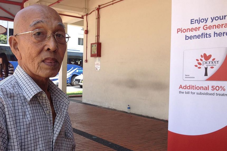 Mr Steven Ang, 70, outside Marine Parade Polyclinic after a medical consultation yesterday. The retired businessman called for better communication from the authorities on the additional subsidies for pioneers.