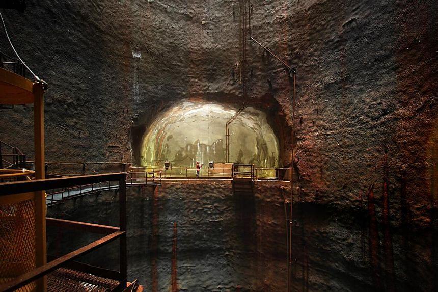 The Jurong Rock Caverns are located beneath Banyan Basin off Jurong Island. -- PHOTO: JTC