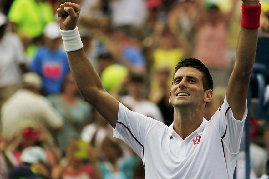 Novak Djokovic of Serbia reacts after defeating to Philipp Kohlschreiber of Germany at the 2014 US Open tennis tournament in New York, on Sept 1, 2014. -- PHOTO: REUTERS