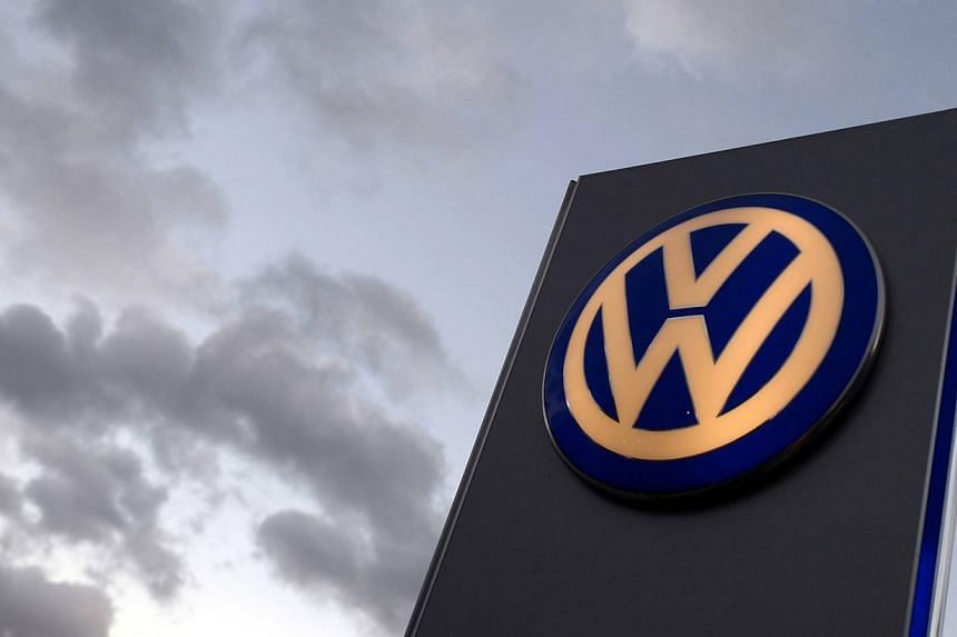 The logo of German carmaker Volkswagen is seen at a VW dealership in Hamburg, in this file picture taken on Oct 28, 2013. -- PHOTO: REUTERS