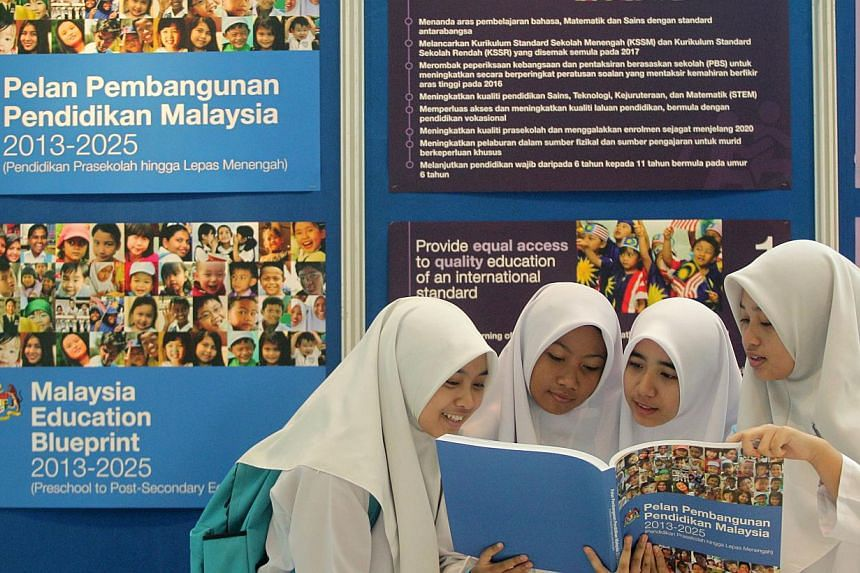 The launch of the National Education Blueprint by Malaysian Deputy Prime Minister Muhyiddin Yassin in 2013. A pass in English will be made a compulsory at public universities in Malaysia so that graduates can communicate effectively, said Mr Muhyiddi