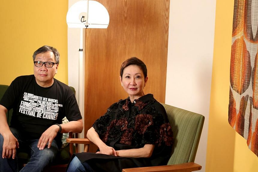 Regional film veteran Shi Nansun (right) is the project's executive producer, while Mr Jeffrey Chan, chief executive of film distributor Distribution Workshop (which he co-founded with Ms Shi), is an investor in the project. -- PHOTO: LIANHE ZAOBAO