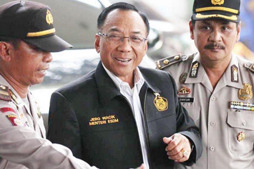 Indonesia's powerful anti-corruption agency on Wednesday named Energy and Mineral Resources Minister Jero Wacik as a suspect in a graft case involving the extortion of state funds. -- PHOTO: THE JAKARTA POST/ASIA NEWS NETWORK