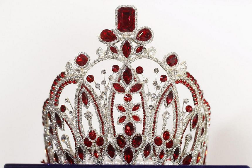 The 2014 Miss Asia Pacific World crown. -- PHOTO: REUTERS