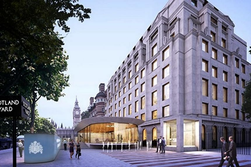 """An impression of what the Metropolitan Police's new headquarters will look like. The """"Scotland Yard"""" name will remain. -- PHOTO: ALLFORD HALL MONAGHAN MORRIS"""