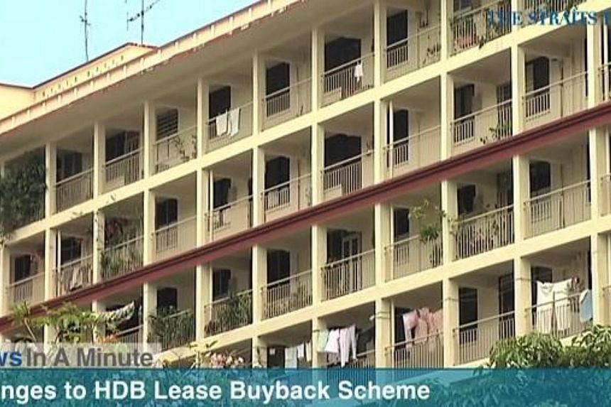 In today's The Straits Times News In A Minute video, we look at how more elderly flat owners will be able to sell part of their lease back to the Government for retirement income, among other issues.
