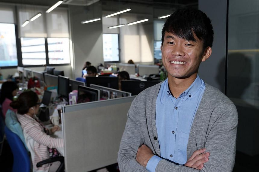 Mr Russell Tan, 24, got his degree from SIM Global Education. After a year at his job, he was promoted to account manager.