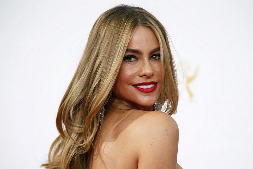 """Actress Sofia Vergara from the ABC sitcom """"Modern Family"""" arrives at the 66th Primetime Emmy Awards in Los Angeles, California on Aug 25, 2014. For the third consecutive year Colombian-born actress Vergara, one of the stars of the hit ABC comedy """"Mod"""