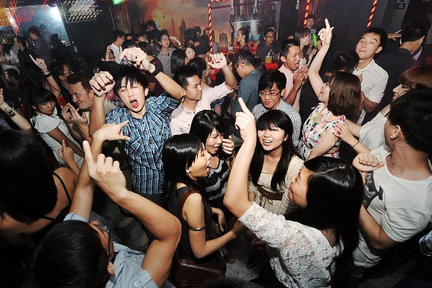 K-pop nights on Thursdays at Butter Factory draw a largely young crowd. -- PHOTO: ST FILE