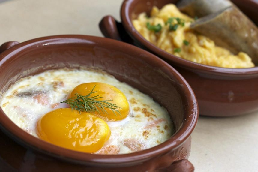 Baked Eggs and Scrambled Eggs from Patisserie G. -- PHOTO: PATISSERIE G