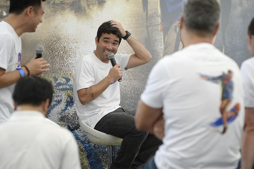 Former Portugal midfielder Deco will be a part of the Tiger Street Football competition at the Singapore Sports Hub's Riverside Walk on Saturday. -- ST PHOTO: DESMOND LIM