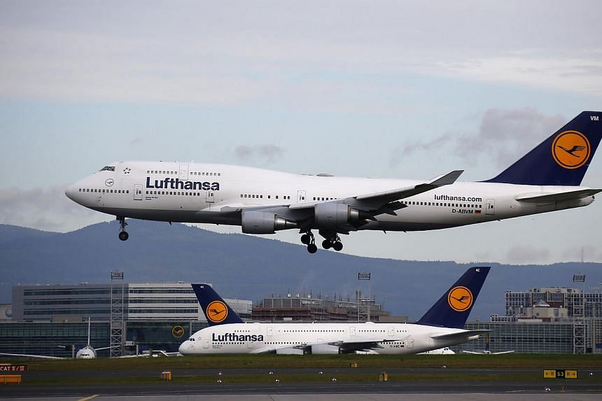 Lufthansa, Germany's biggest airline, said it will cancel 200 flights on Friday, affecting 25,000 passengers, as a consequence of a pilots' strike to be held later in the day. -- PHOTO: REUTERS